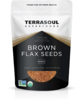 TerraSoul Organic Brown Flax Seeds