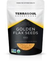 TerraSoul Organic Raw Golden Flax Seeds